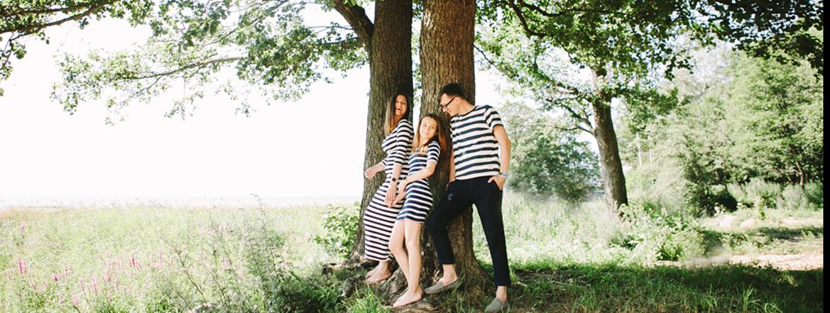 семейная фотосессия в лесу