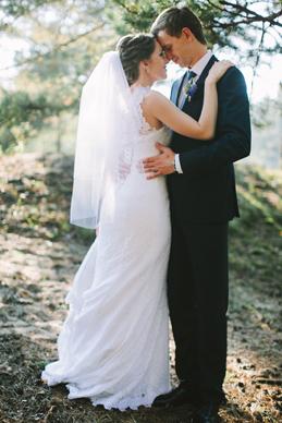 свадбеная фотосессия в лесу