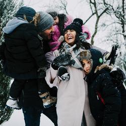 фотосессия на улице зимой