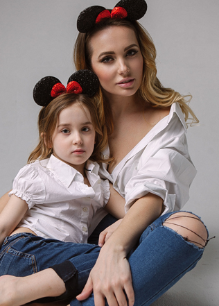 крутая фотосессия мамы и дочки