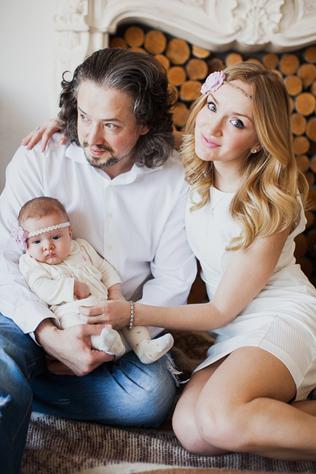 фотография с родителями в студии