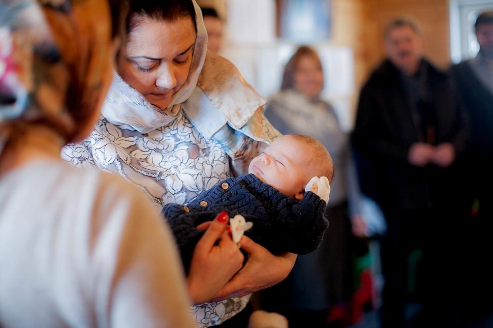 Крещение на 40 день в красногорске